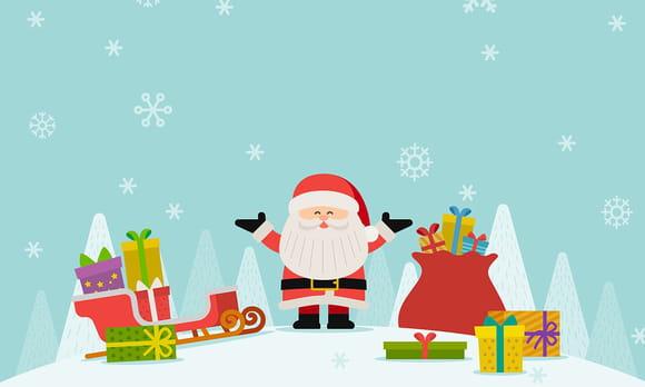 Coloriage Cadeaux de Noël