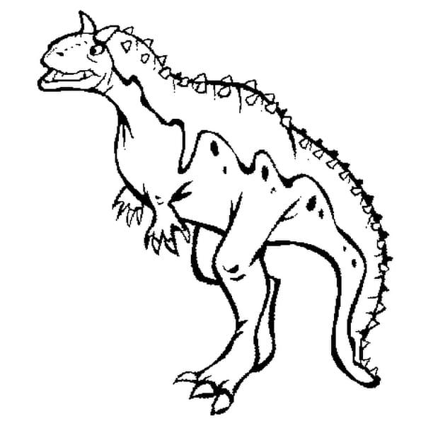 Dessin Carnotaurus a colorier