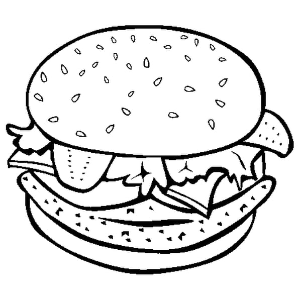 Dessin Hamburger a colorier