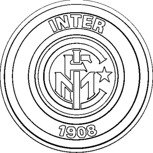 Coloriage Écusson Inter Milan