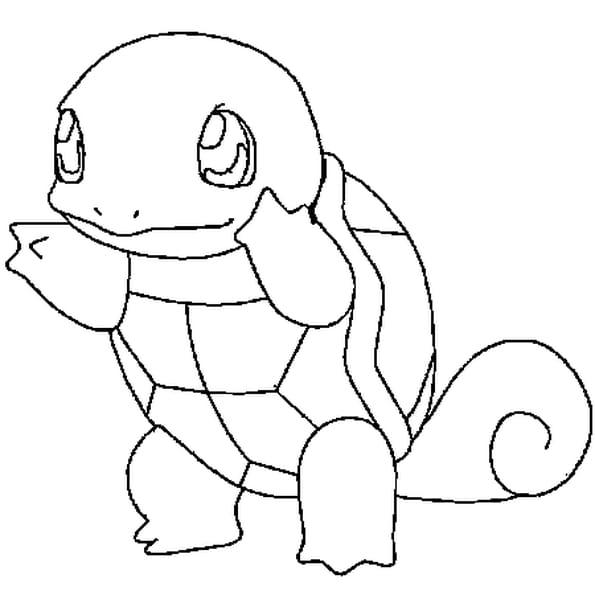 Dessin Pokémon carapuce a colorier