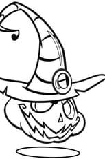 Coloriage Citrouille d'Halloween avec chapeau