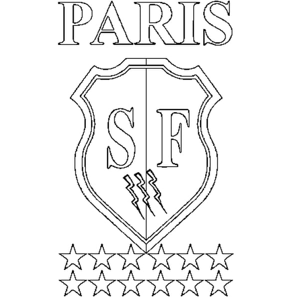 Dessin Stade Français a colorier