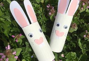 Lapins de Pâques en Rouleau de papier toilette