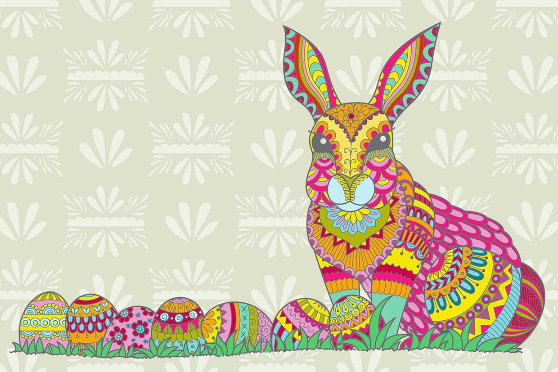 Coloriage De Paques Cycle 2.Coloriage Mandala Paques Sur Hugolescargot Com