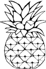Coloriage Ananas en Ligne Gratuit à imprimer