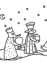 Coloriage Les Trois Rois Mages en Ligne Gratuit à imprimer