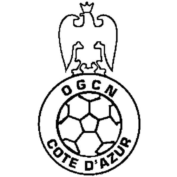 Coloriage OGC Nice en Ligne Gratuit à imprimer