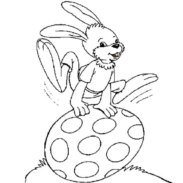 Coloriage lapin de pâques en Ligne Gratuit à imprimer