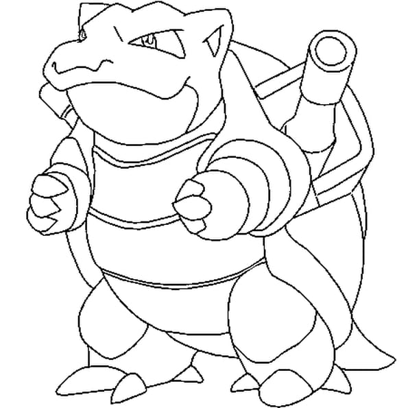 Dessin Pokémon tortank a colorier
