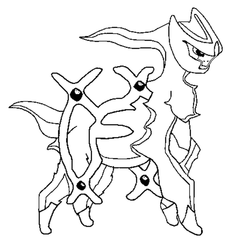 Coloriage Pokémon arceus en Ligne Gratuit à imprimer