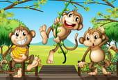 Comptine Les trois singes