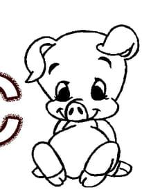 Coloriage De Cochon Pirate.Coloriage Cochon Sur Hugolescargot Com