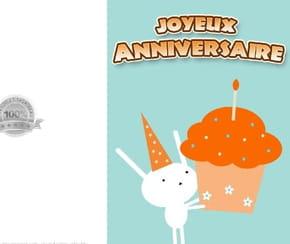 Carte anniversaire lapinou