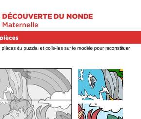 Puzzle 6pièces, une petite licorne