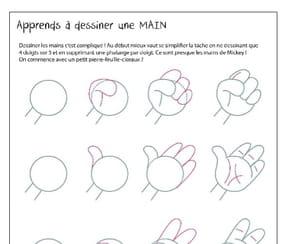 Apprendre à dessiner: une main