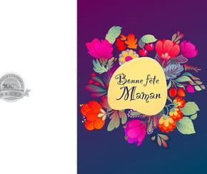 Carte bouquet de fleurs fête des Mères