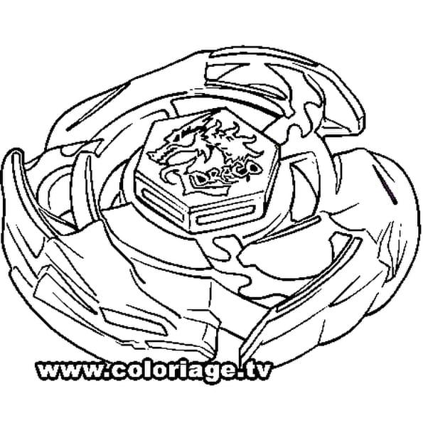 Coloriage Beyblade El Drago en Ligne Gratuit à imprimer