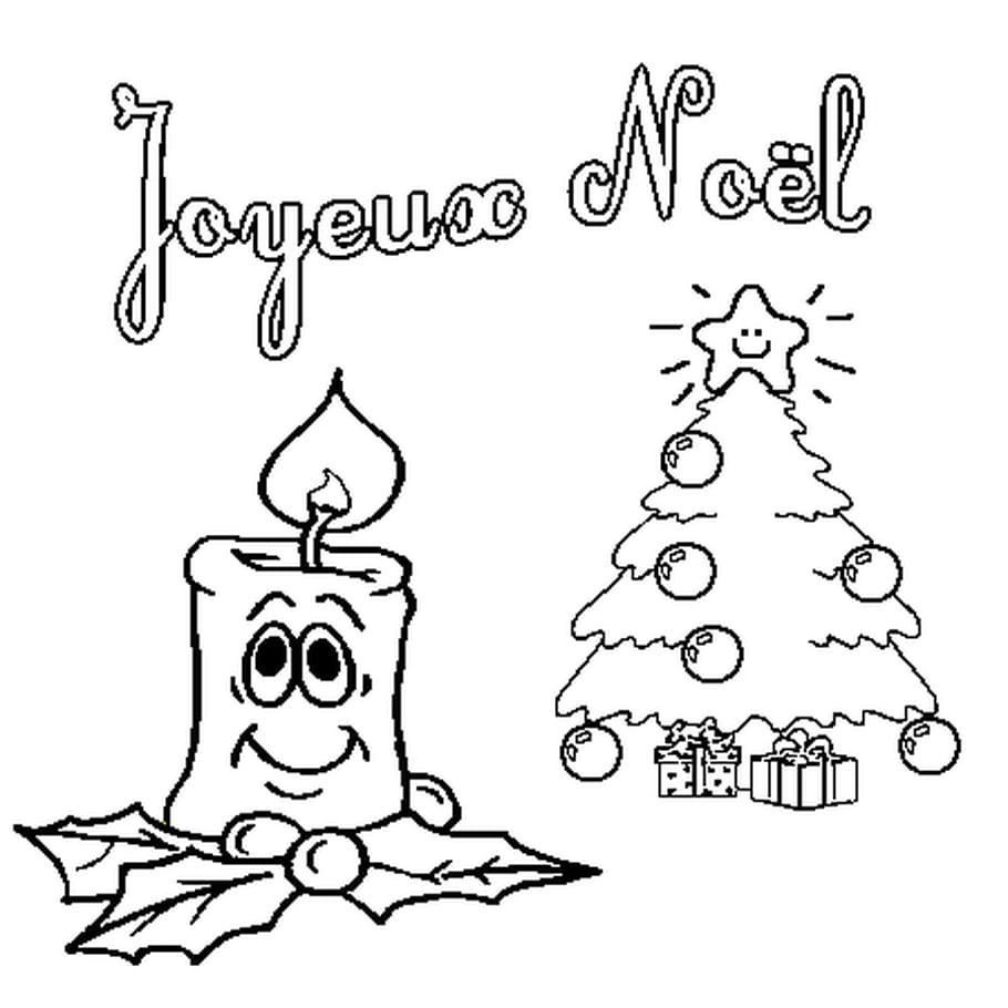 Dessin De Joyeux Noël a colorier