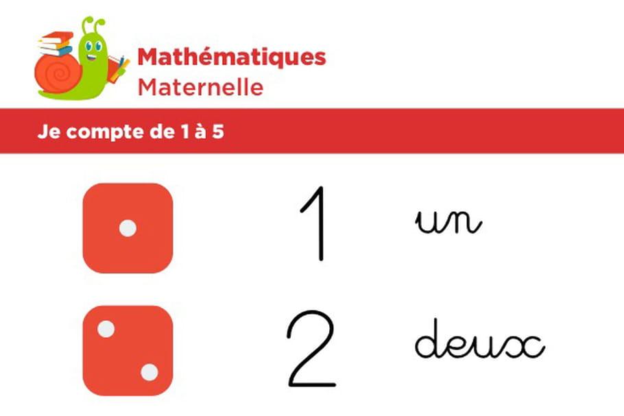 Mathématiques fiche 1, je compte de 1à 5