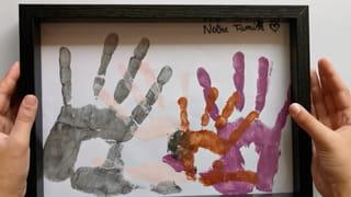 Étape 4: encadrer les empreintes de mains