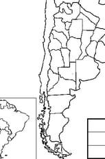Coloriage carte Argentine en Ligne Gratuit à imprimer