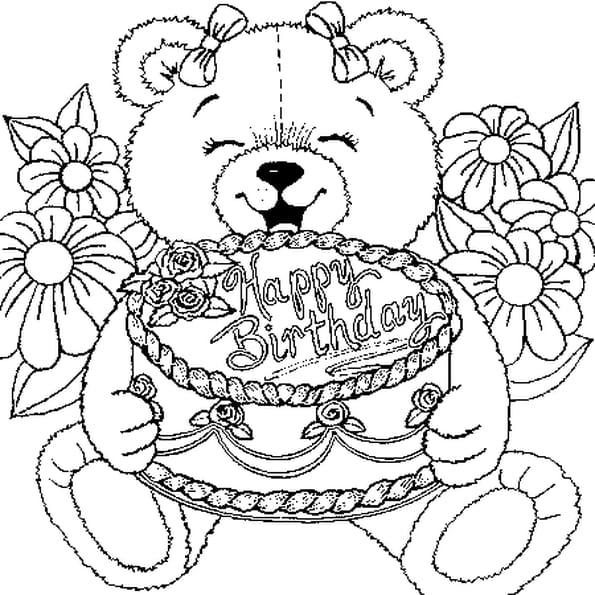 Coloriage de 2 ans en ligne gratuit imprimer - Image de nounours a imprimer ...