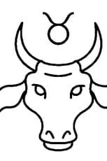 Coloriage Signe du Taureau