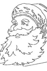 Coloriage père noël portrait en Ligne Gratuit à imprimer