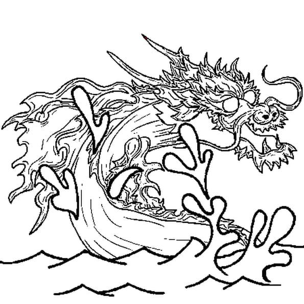 Coloriage dragon des mers en ligne gratuit imprimer - Dragon japonais dessin ...