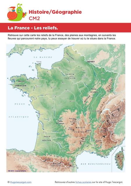 La France Les Reliefs