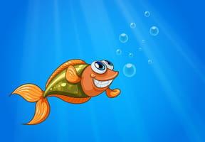 Un poisson au fond d'un étang