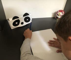 Trousse Panda avec une boite céréales