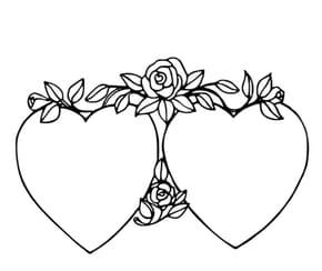 Deux coeurs et Roses
