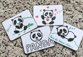 Dessin bébé Panda: Apprendre à dessiner un panda Kawaii