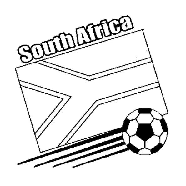 Coloriage Afrique du Sud 2010 en Ligne Gratuit à imprimer