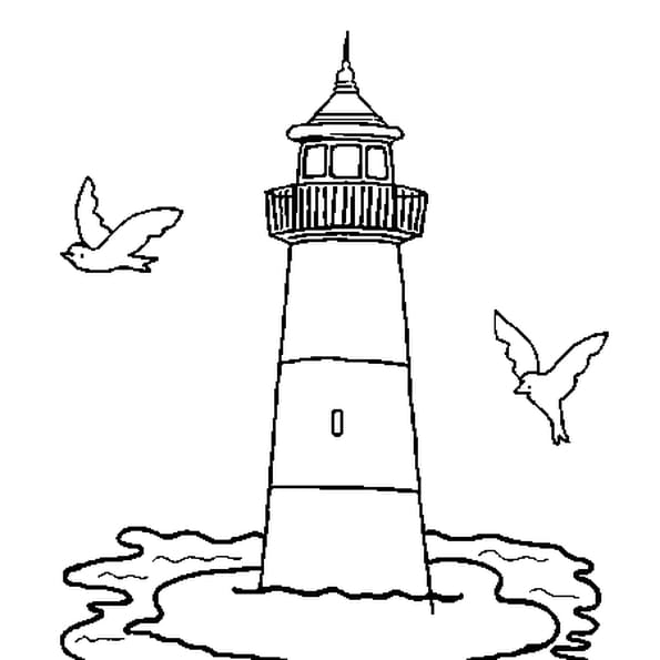 Dessin Phare a colorier