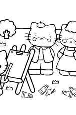 Coloriage hello kitty en Ligne Gratuit à imprimer