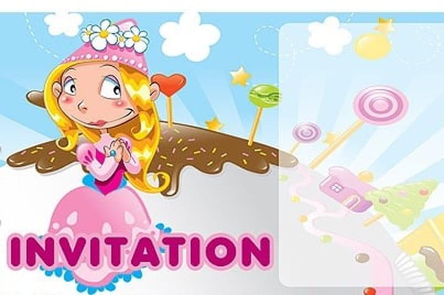 Carte invitation anniversaire princesse rose - Carte anniversaire adulte a imprimer ...