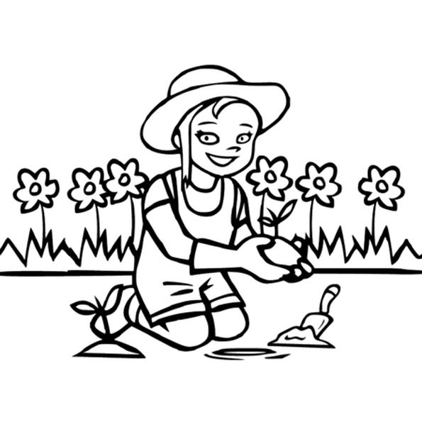 Dessin Jardinier a colorier