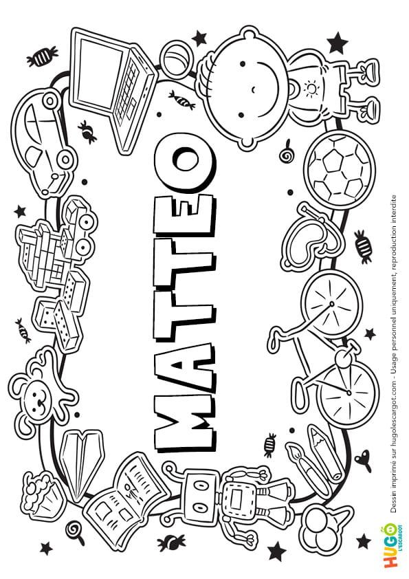 Matteo prénom de garçon version3