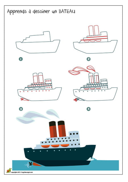 Dessiner un bateau - Dessin d un bateau ...