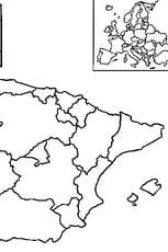 Coloriage carte Espagne
