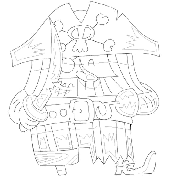 Dessin Le Pirate et son épée a colorier