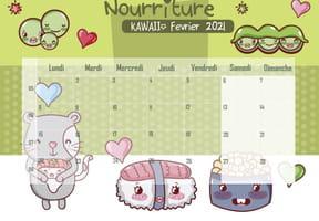 Nourriture Kawaii: calendrier2021