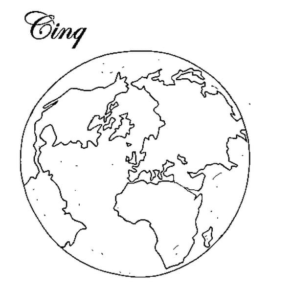 Dessin 5 continents a colorier