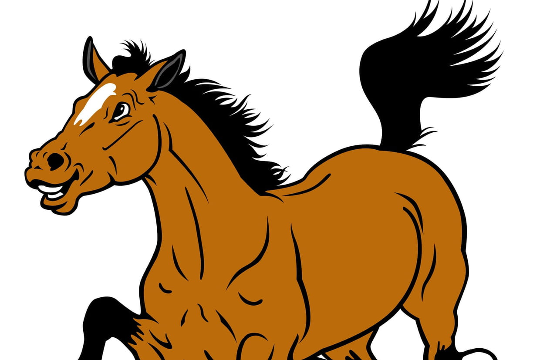 coloriage cheval à imprimer sur hugolescargot com