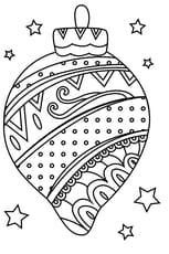 Coloriage boule de Noël bariolée