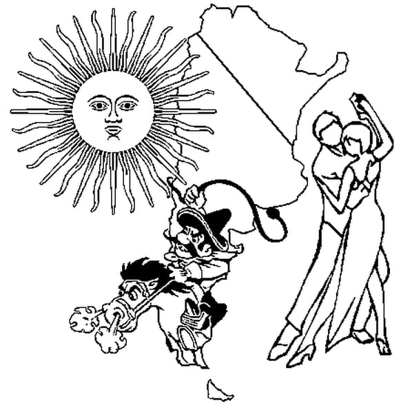Coloriage Argentine en Ligne Gratuit à imprimer