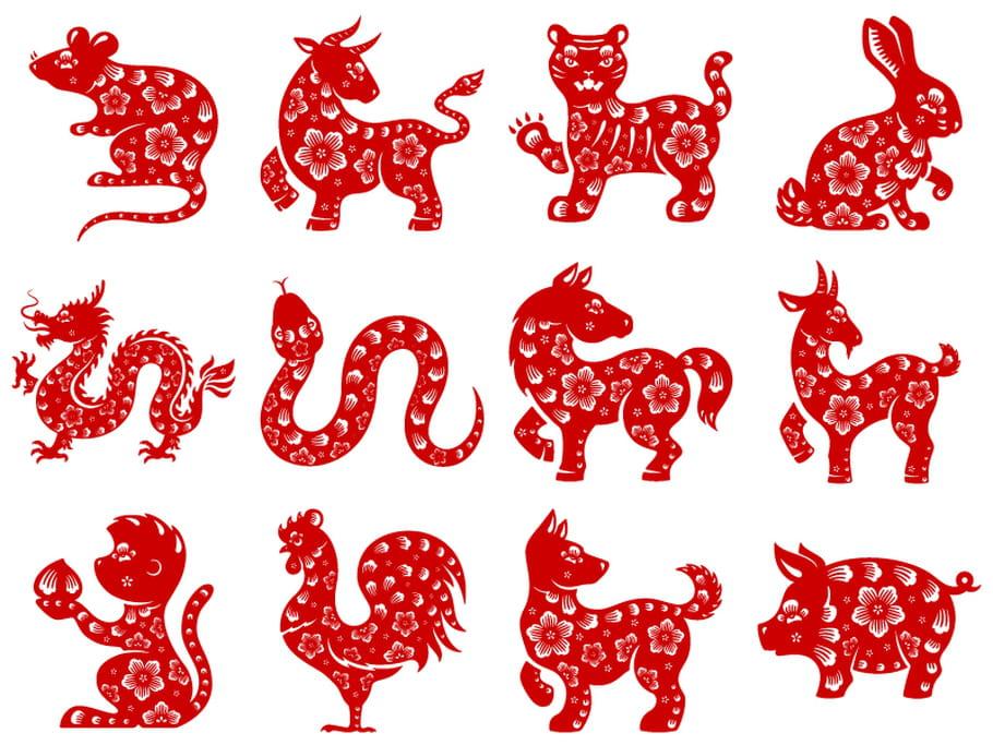 Dessin De Signe Chinois les signes du zodiaque chinois